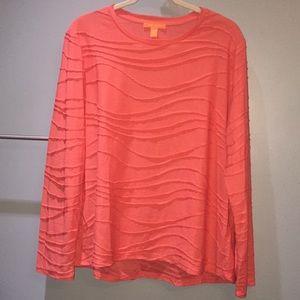 Joe Fresh Coral 2XL Long Sleeved Shirt